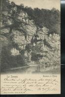 La Semois - Rochers à Chiny   écrite: Noirefontaine 1908  Pour Uccle - Chiny