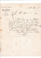 13-F.Latty ..Vins & Liqueurs Assorties. Aix En Provence ( Bouches Du Rhône) 1886 - Altri