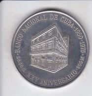 MONEDA DE PLATA DE CUBA DE 10 PESOS DEL AÑO 1975 BANCO NACIONAL  (COIN) SILVER-ARGENT - Cuba