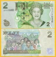 Fiji 2 Dollars P-109b 2011 UNC Banknote - Fidji