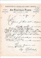 13-Au Nouveau Paris ..Manufacture De Lingerie Dames & Enfants Aix En Provence ( Bouches Du Rhône) 1897 - Vestiario & Tessile