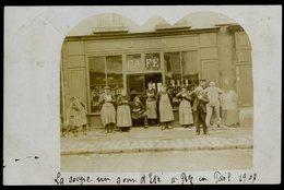 Cpa Carte Photo Du 53 Pré En Pail  La Soupe Un Soir D' été à Prez En Pail En 1907 Café Morin ACH13 - Pre En Pail