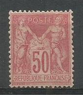1900 – N°104 * (MH) - 50 C.rose - SAGE TYPE I - TRACE DE CHARNIERE - V. Images - 1876-1898 Sage (Type II)
