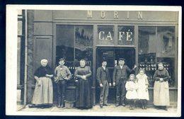 Cpa Carte Photo Du 53 Pré En Pail  Café Morin ACH13 - Pre En Pail
