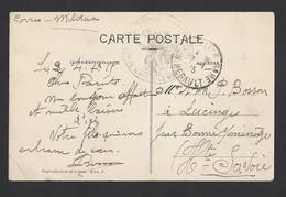 Carte Postale De Cette Franchise Train Sanitaire 1/2 Permanent  TAD Gare Montpellier 1815 Vers Lucinges - WW I
