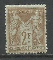 1900 – N°105 * (MH) - 2 Fr.bistre - SAGE TYPE I - TRACE DE CHARNIERE - V. Images - 1876-1898 Sage (Tipo II)