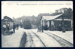 Cpa Du 22  Lannion La Gare Des Chemins De Fer De Perros   ACH13 - Lannion
