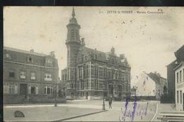 Jette St Pierre Maison Communale ; écrite: 24/06/1917 + Censure  Allemande - Jette