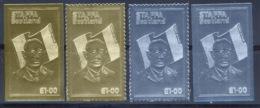 166a Charles De Gaulle - UK - 4 Timbres Série Complète Argent (Silver) OR (gold Stamps) - De Gaulle (General)