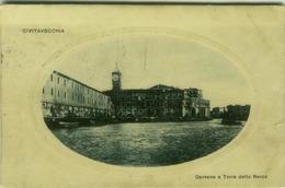 CIVITAVECCHIA - DARSENA E TORRE DELLA ROCCA - EDIZ. VERGATI - 1924  (3045) - Civitavecchia