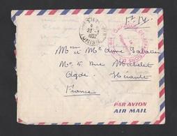 Enveloppe Avec Correspondance En Franchise Militaire De TUNISIE 23/3/1957 Vers Agde - Wars