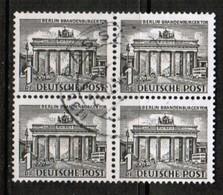 GERMANY---Berlin  Scott # 9N 42  VF USED BLOCK Of 4 (Stamp Scan # 477) - Used Stamps