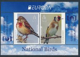 """GUERNSEY EUROPA 2019 """"National Birds"""" Souvenir Sheet** - 2019"""