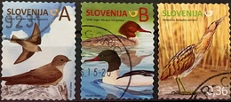 SLOVENIA 2014 Fauna - Birds Of Slovenia 3 Postally Used Stamps Michel # 1058A,1059A,1060A - Slovénie
