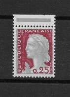 Marianne De Decaris N° 1263e (gris Et Carmin Type II) ** TTBE - Bord De Feuille - Cote Y&T 2019 De 4 € - France