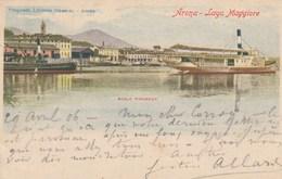 ARONA-NOVARA-LAGO MAGGIORE-SCALO PIROSCAFI-BELLISSIMA-CARTOLINA VIAGGIATA IL 29-4-1906 - Novara
