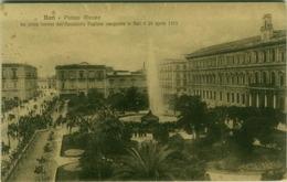 BARI - PIAZZA ATENEO - PRIMA FONTANA ACQUEDOTTO PUGLIESE  - INAGURATA 24 APRILE 1915 - EDIZ. LOBUONO  (3052) - Bari