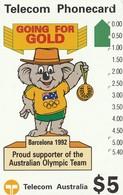 TARJETA TELEFONICA DE AUSTRALIA. BARCELONA 1992. Willy Koala (N91021-2-2). AUS-M-049a (136) - Juegos Olímpicos
