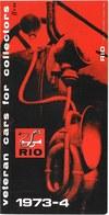Catalogue RIO 1973-74 Katalog - Catalogues & Prospectus