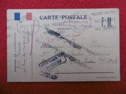 CARTE F M GRIFFE RETOUR A L ENVOYEUR 1940 CACHET VALENCE A VOIR - Postmark Collection (Covers)
