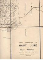Carte Forêt Domaniale De Haut Juré Plan Général Dressé à L'échelle De 1/20000 - Cartes Topographiques