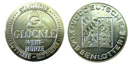 02600 GETTONE TOKEN JETON LOTTERIA LOTTERY GLOCKLE WERT MUNZE LOTTERIE SUDDTEUTSCHE KLASSENLOTTE - Allemagne