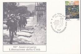 MARCOFILIA ITALIA 1994:ANNIVERSARIO LIBERAZIONE CITTA' DI TERNI. - 6. 1946-.. Repubblica