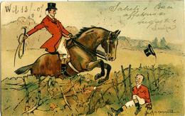HAMMOND A. H. Cavallo Salta La Siepe  Horse  Rio De Janeiro Per Biella 1907 - Altre Illustrazioni