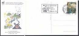 MARCOFILIA ITALIA 1994:ANNIVERSARIO LIBERAZIONE CITTA' DI AREZZO. - 6. 1946-.. Repubblica