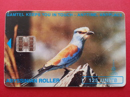 GAMBIA - GAMTEL 125u Abyssinian Roller Bird Not Kingfisher GAMBIE (CB1217 - Gambie