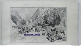 1899 MINES D'OR DU KLONDYKE - DE PARIS AU LAC BENNETT -DEFILÉ DU PORC ÉPIC - SKAGGWAY - WHITE PASS - LE GUE DU CARIBOU - Kranten