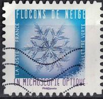 France 2018 Oblitéré Used Flocons De Neige En Microscopie Optique Timbre 07 Y&T 1632 - 2010-.. Matasellados