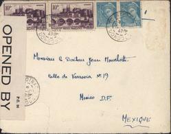 Lettre Pour Le Mexique Guerre 39 45 Censure USA Opened By Examiner 5197 YT 500 X2 + 538 X2 CAD Tourtoirac 12 10 42 - Guerre De 1939-45