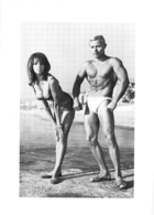 PHOTO HOMME EN MAILLOT DE BAIN CULTURISME CULTURISTE  21 X 15 CM - Sports