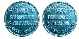 03788 GETTONE TOKEN JETON AMUSEMENT GAMING PLAY MACHINE PLAYCADE BOARDWALKS'S CALIFORNIA ATLANTIC CITY ALU - Estados Unidos
