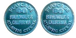 03788 GETTONE TOKEN JETON AMUSEMENT GAMING PLAY MACHINE PLAYCADE BOARDWALKS'S CALIFORNIA ATLANTIC CITY ALU - USA