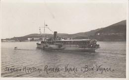 GENOVA-SERVIZIO MARITTIMO RIVIERE VAPORE=BON VOYAGE=-CARTOLINA VERA FOTOGRAFIA-NON VIAGGIATA ANNO 1925-1935? - Genova (Genoa)