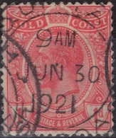 COTE D'OR GOLD COAST Poste 69 (o) Georges V Magnifique Cachet 30 Juin 1921 - Gold Coast (...-1957)
