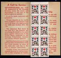 USA 1918: Ten RED CROSS Christmas Seals - Very Nice And Rare - MNH - Etats-Unis