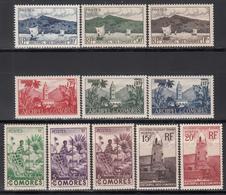 1950-52 Yvert Nº 1 / 20  /*/, - Isla Comoro (1950-1975)