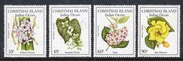 CHRISTMAS ISLAND - 1986 NATIVE FLOWERS SET (4V) FINE MNH ** SG 216-219 - Christmas Island