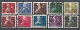 Hungary 1947. Scott #816-25 (U) Famous Hungarian ** Complet Set - Oblitérés