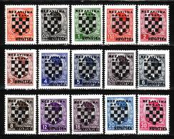 CROATIA 1941. NDH Mi 9/23, MNH** LUX - Kroatië