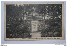 Arlon Weltkrieg 1914/15 Kriegerdenkmal Errichtet Von Dem Landst. Inf. Batl. Gotha - Arlon