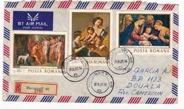 Lettre Bucarest București Roumanie România 1968 Douala Cameroun - 1948-.... Republics