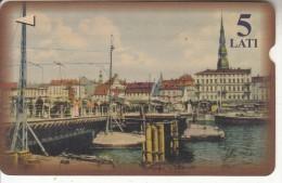LATVIA(Alcatel) - Bridge/Riga, Tirage 30000, Used - Letland