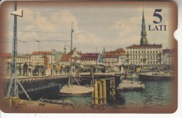 LATVIA(Alcatel) - Bridge/Riga, Tirage 30000, Used - Lettonia
