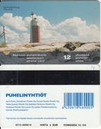 FINLAND - Lighthouse, Kylmapihlaja/Rauma, Turun Puhelin Telecard, CN : 3012, Tirage 45000, Exp.date 12/04, Used - Lighthouses