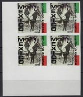 Mexico - Set In Block Of 4 -  /  Emiliano Zapata - Revolution - Horse - Mexico