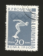 O) 1960 ROMANIA. OLYMPIC GAMES, SWIMMING, CANCELLATION, XF - 1948-.... Republics
